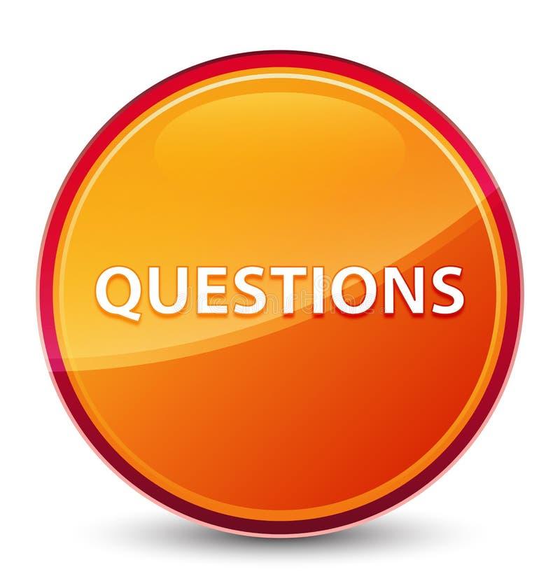 Bottone rotondo arancio vetroso speciale di domande royalty illustrazione gratis