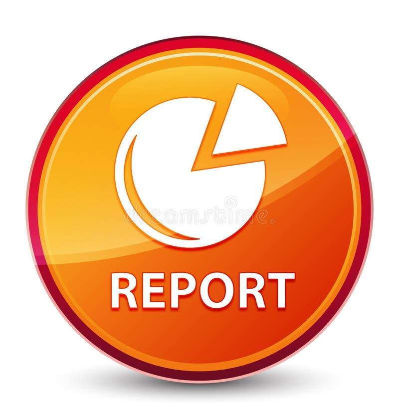 Bottone rotondo arancio vetroso speciale di rapporto (icona del grafico) illustrazione vettoriale