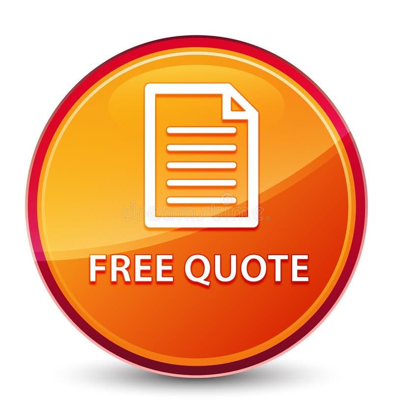 Bottone rotondo arancio vetroso speciale libero di citazione (icona della pagina) illustrazione di stock