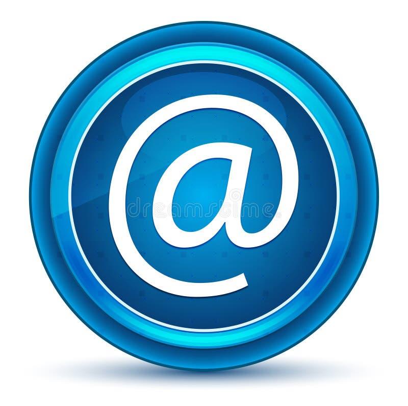 Bottone rotondo blu del bulbo oculare dell'icona di indirizzo email royalty illustrazione gratis