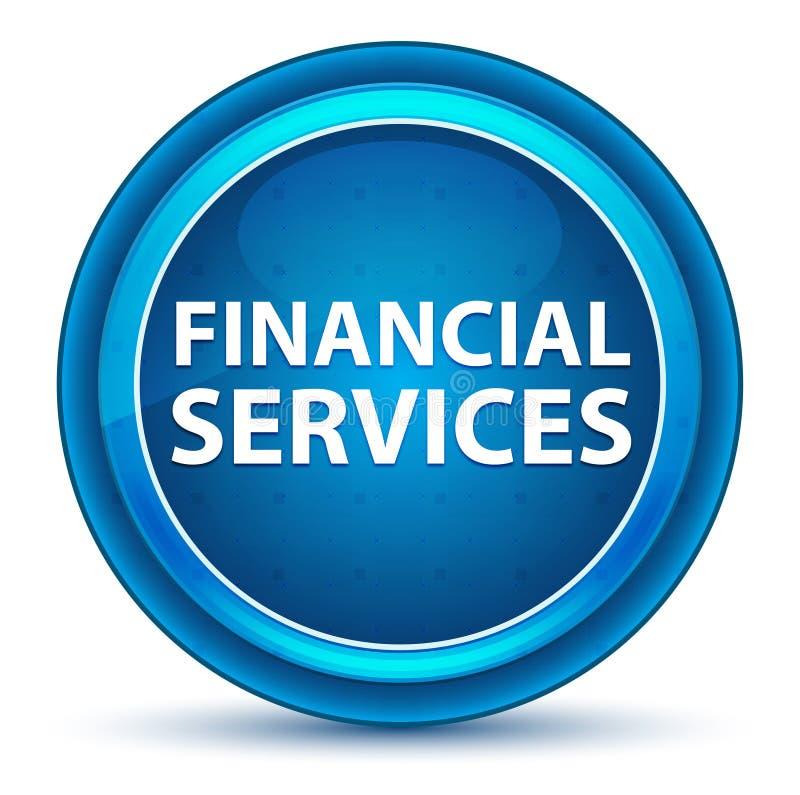 Bottone rotondo blu del bulbo oculare di servizi finanziari illustrazione vettoriale
