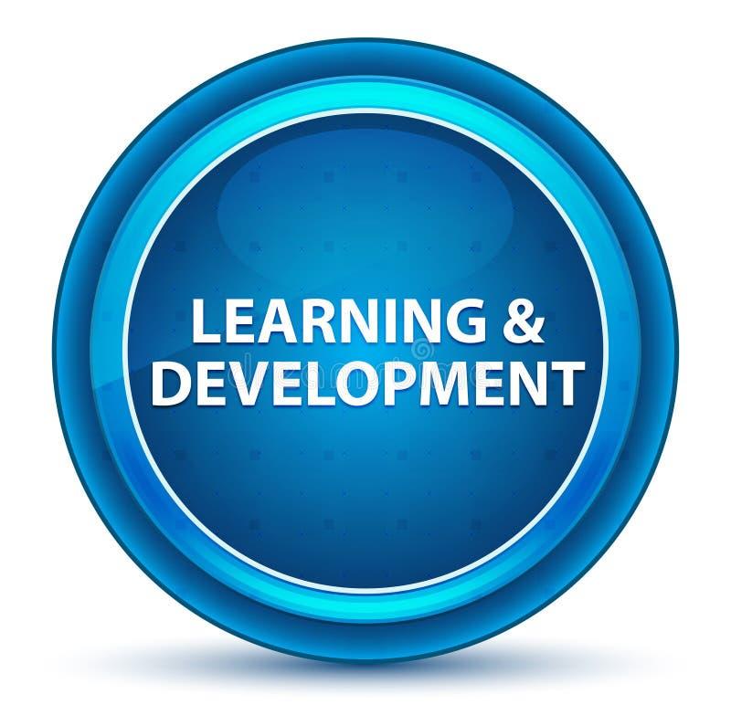 Bottone rotondo blu del bulbo oculare di sviluppo & di apprendimento royalty illustrazione gratis