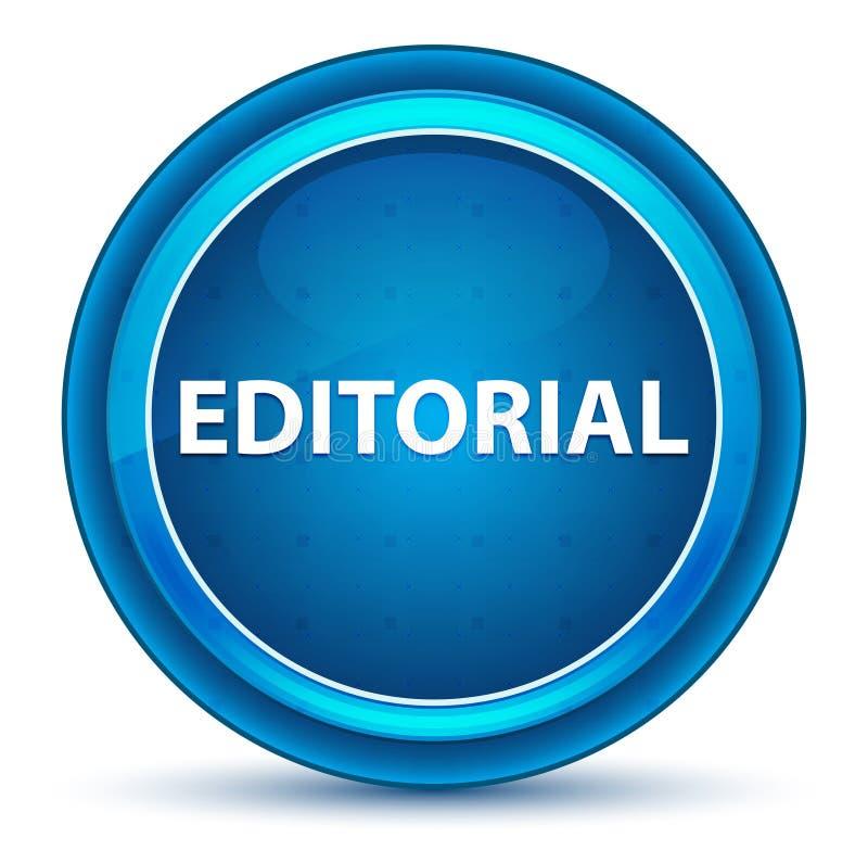 Bottone rotondo blu del bulbo oculare editoriale royalty illustrazione gratis