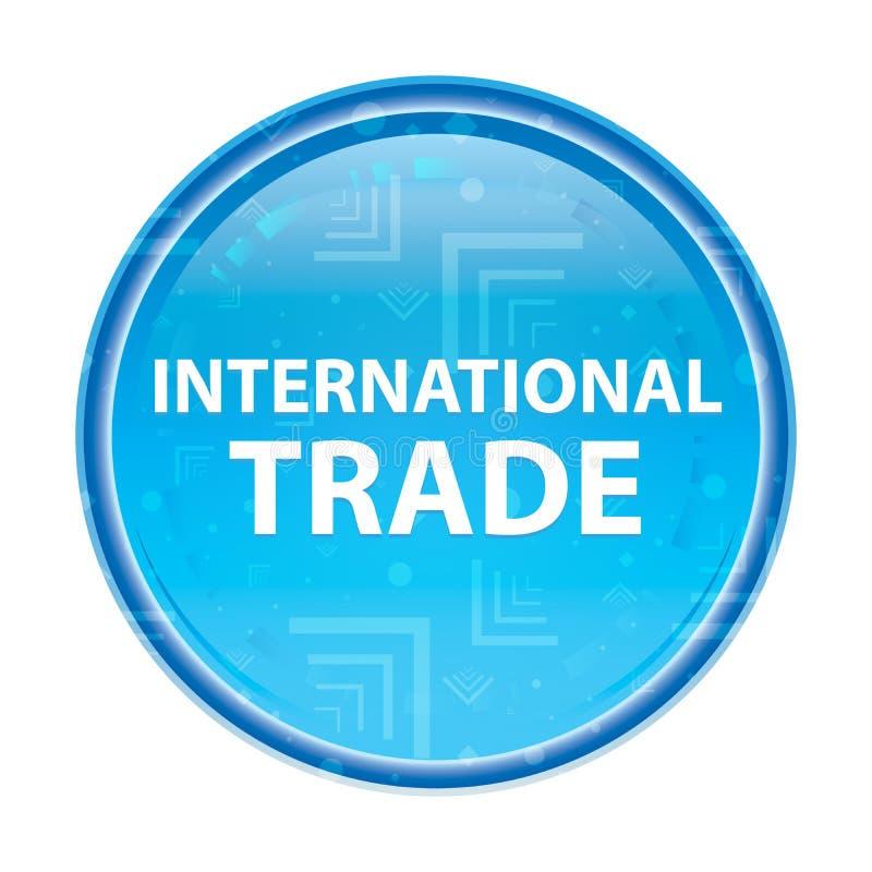 Bottone rotondo blu floreale del commercio internazionale royalty illustrazione gratis