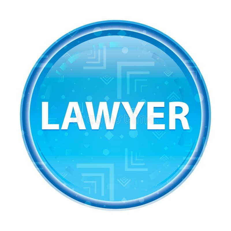 Bottone rotondo blu floreale dell'avvocato illustrazione vettoriale