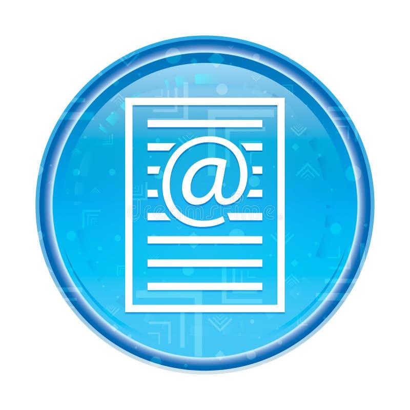 Bottone rotondo blu floreale dell'icona della pagina di indirizzo email illustrazione di stock