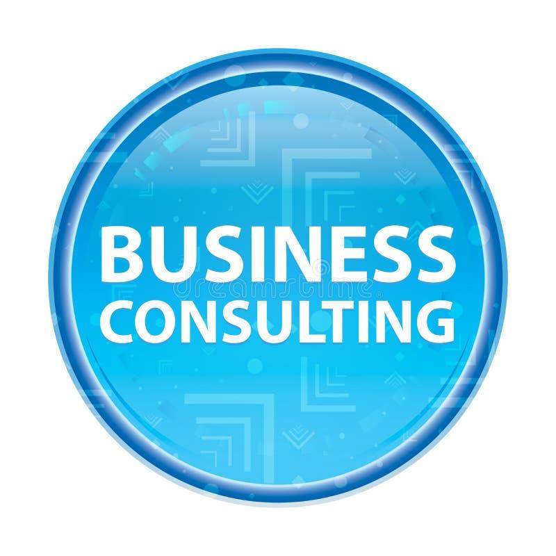 Bottone rotondo blu floreale della consulenza aziendale royalty illustrazione gratis