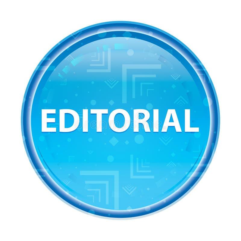 Bottone rotondo blu floreale editoriale royalty illustrazione gratis