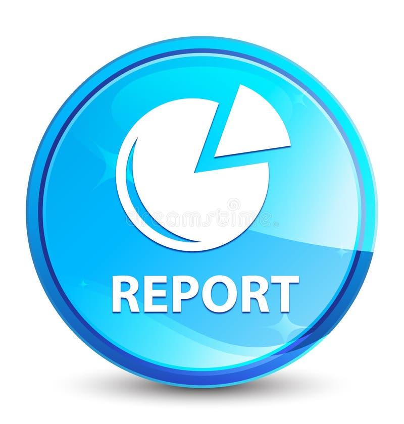 Bottone rotondo blu naturale della spruzzata di rapporto (icona del grafico) royalty illustrazione gratis