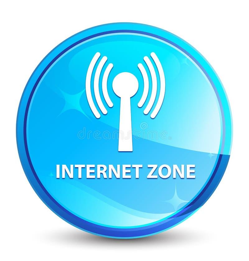 Bottone rotondo blu naturale della spruzzata di zona di Internet (rete wlan) illustrazione vettoriale