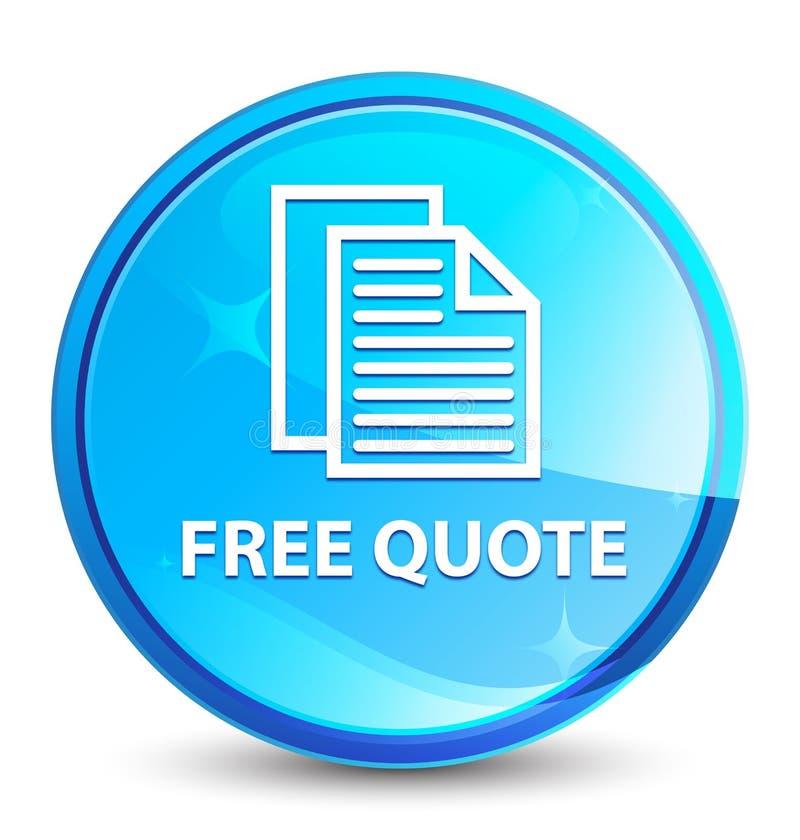 Bottone rotondo blu naturale della spruzzata libera di citazione illustrazione di stock