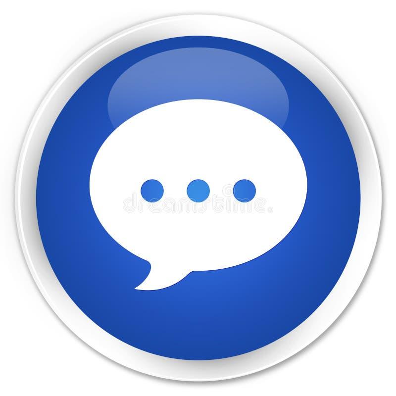 Bottone rotondo blu premio dell'icona di conversazione royalty illustrazione gratis