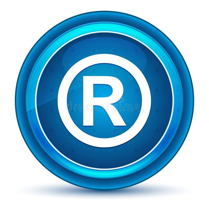Bottone rotondo blu registrato del bulbo oculare dell'icona di simbolo royalty illustrazione gratis