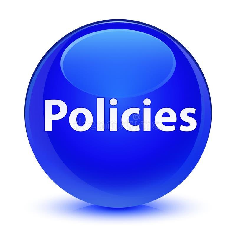 Bottone rotondo blu vetroso di politiche royalty illustrazione gratis
