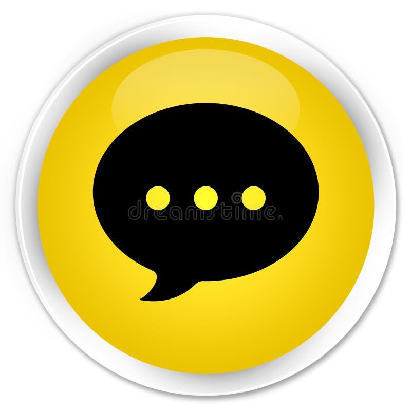 Bottone rotondo giallo premio dell'icona di conversazione illustrazione di stock