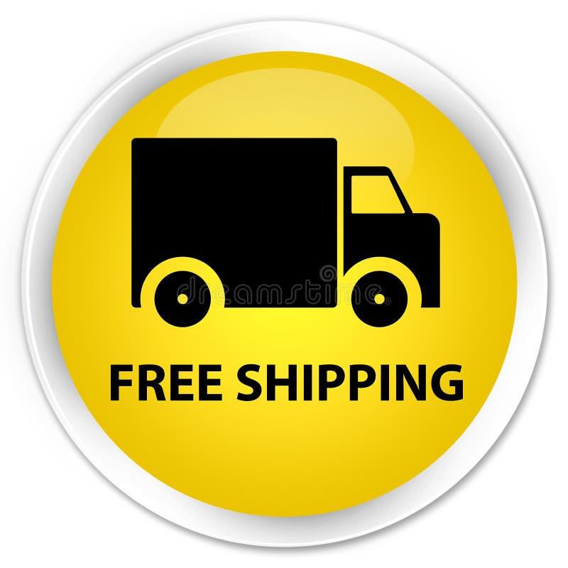 Bottone rotondo giallo premio di trasporto libero royalty illustrazione gratis