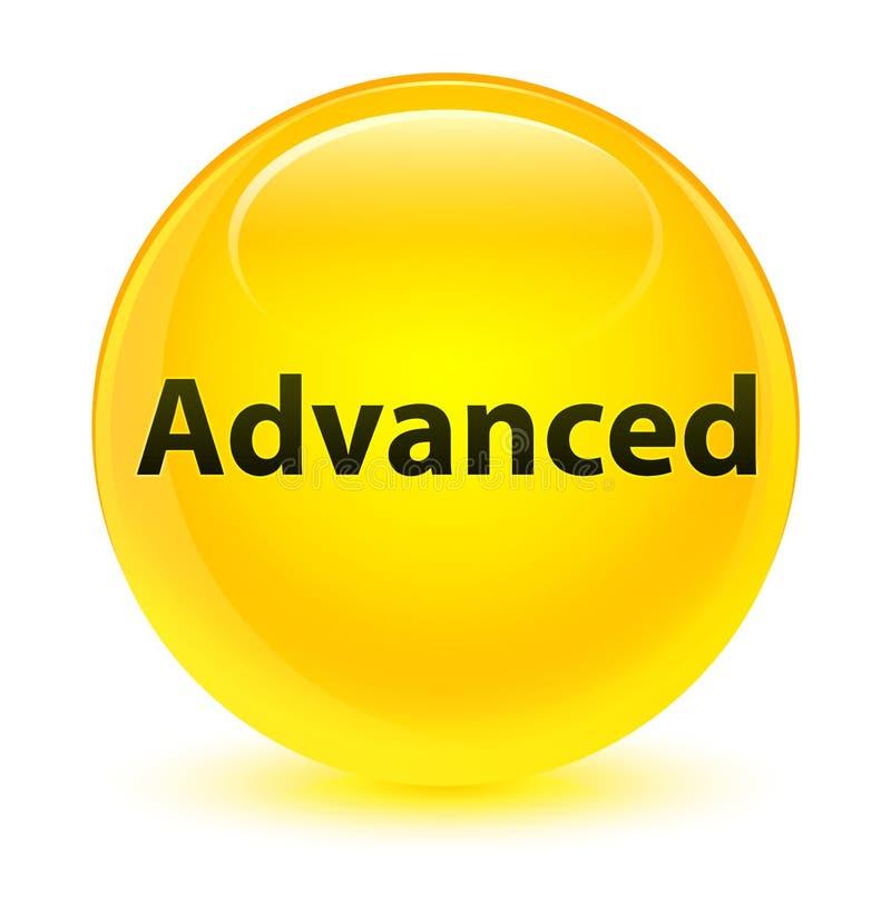 Bottone rotondo giallo vetroso avanzato royalty illustrazione gratis