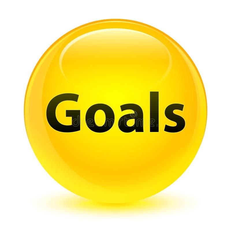 Bottone rotondo giallo vetroso di scopi illustrazione di stock