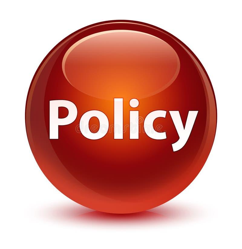 Bottone rotondo marrone vetroso di politica royalty illustrazione gratis