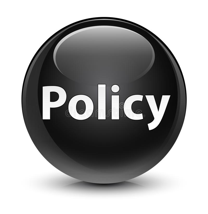 Bottone rotondo nero vetroso di politica illustrazione vettoriale