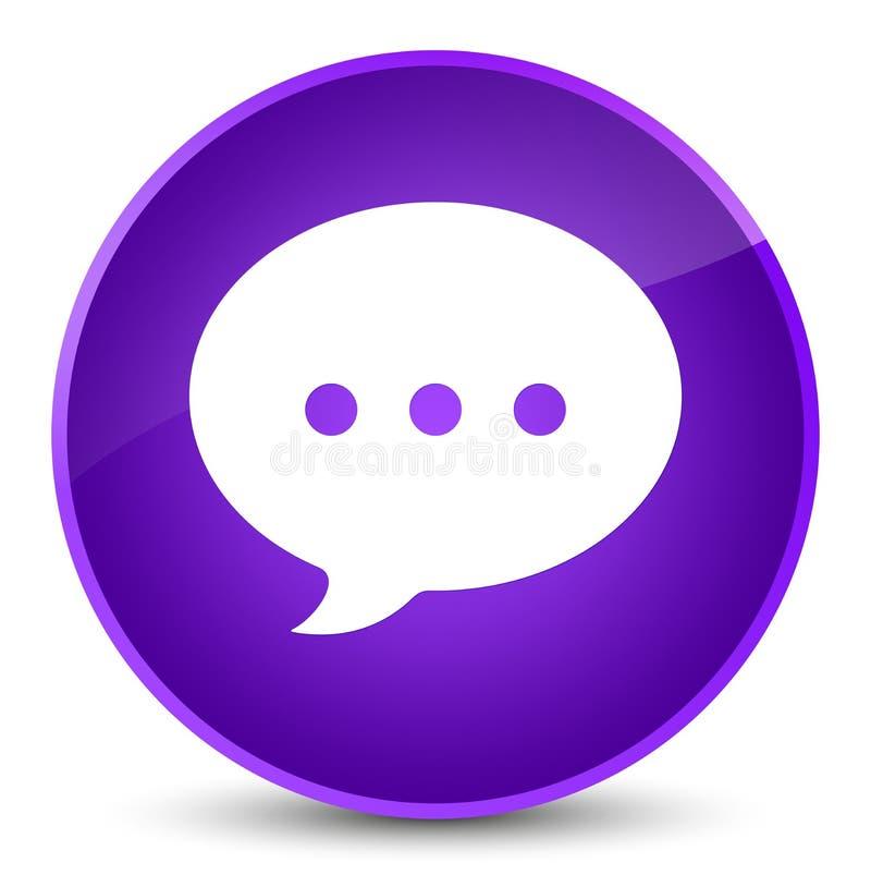 Bottone rotondo porpora elegante dell'icona di conversazione illustrazione vettoriale