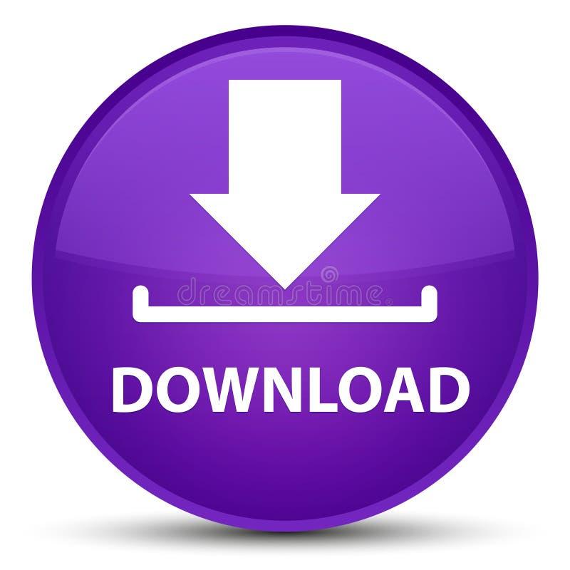 Bottone rotondo porpora speciale di download illustrazione di stock