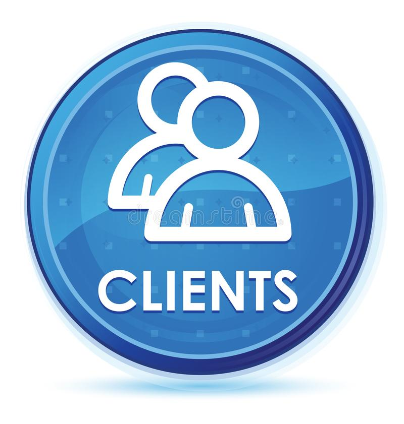 Bottone rotondo principale blu di mezzanotte dei clienti (icona del gruppo) illustrazione vettoriale