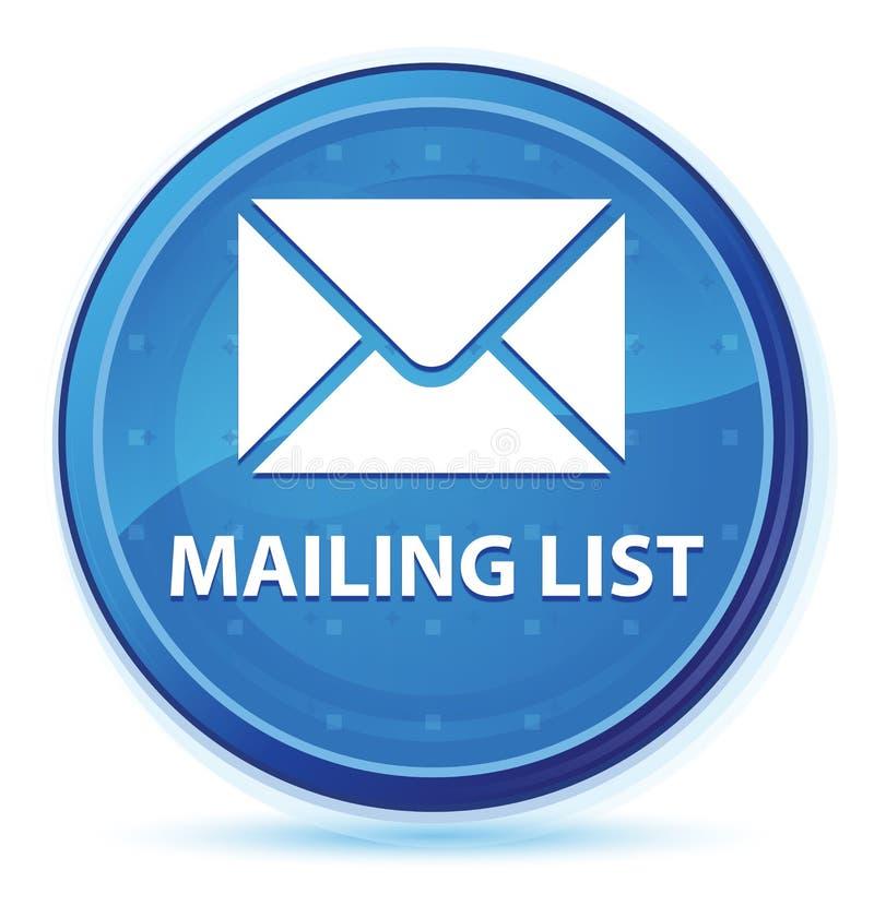 Bottone rotondo principale blu di mezzanotte dell'elenco di indirizzi royalty illustrazione gratis