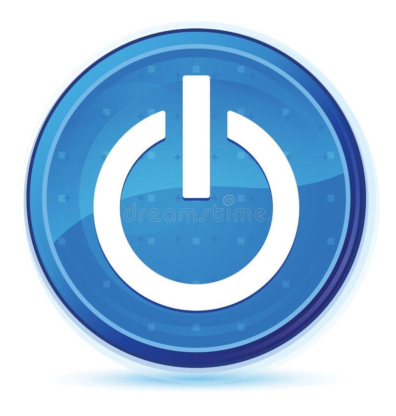 Bottone rotondo principale blu di mezzanotte dell'icona di potere royalty illustrazione gratis