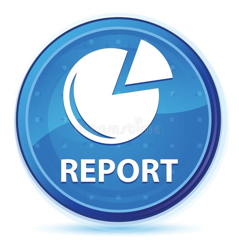 Bottone rotondo principale blu di mezzanotte di rapporto (icona del grafico) illustrazione di stock