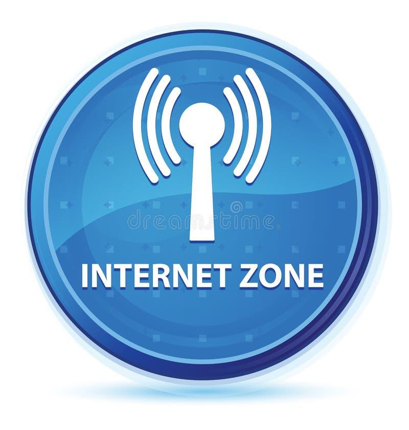 Bottone rotondo principale blu di mezzanotte di zona di Internet (rete wlan) illustrazione di stock