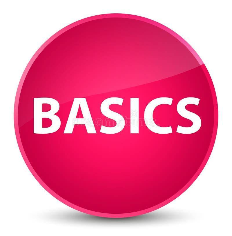 Bottone rotondo rosa elegante di basi illustrazione di stock