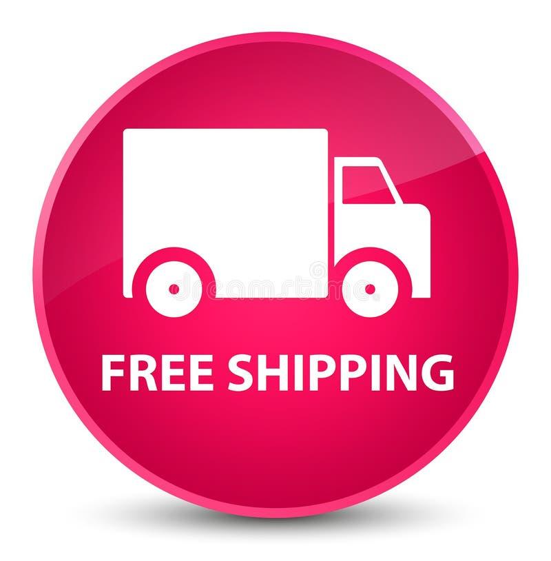 Bottone rotondo rosa elegante di trasporto libero illustrazione vettoriale