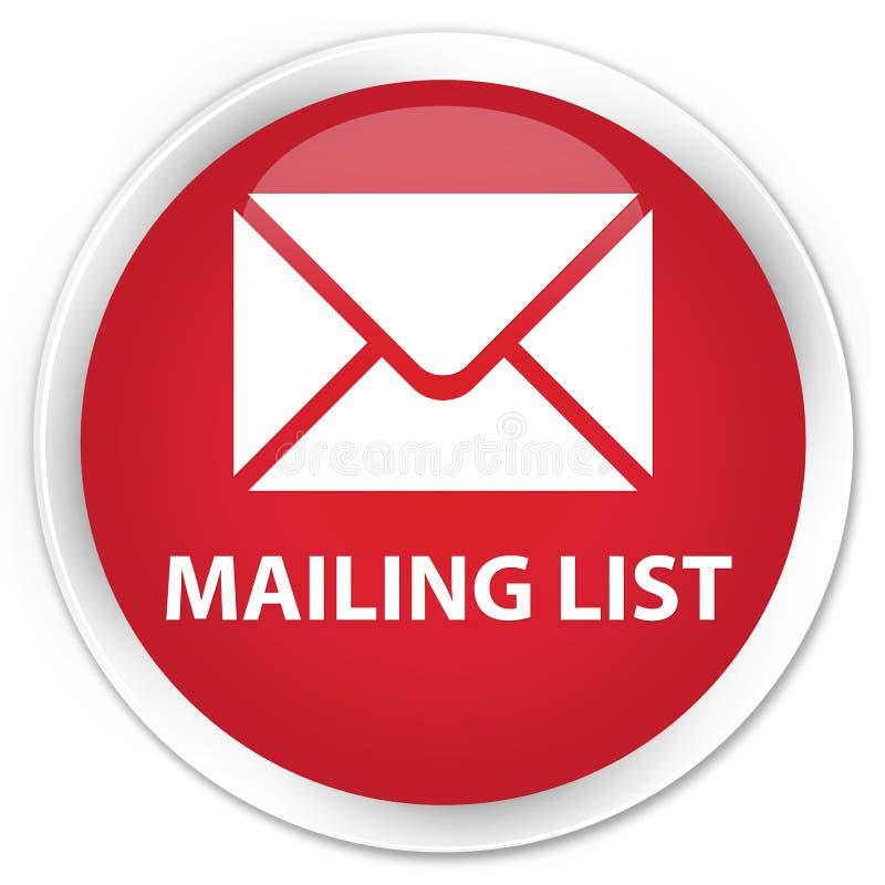 Bottone rotondo rosso premio dell'elenco di indirizzi royalty illustrazione gratis