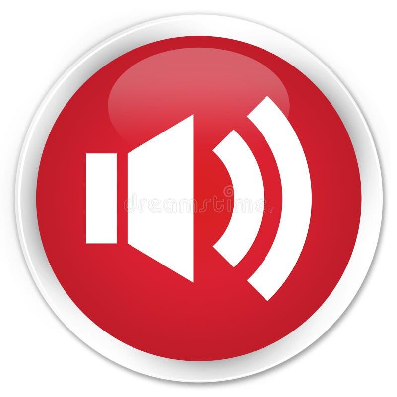 Bottone rotondo rosso premio dell'icona del volume illustrazione di stock