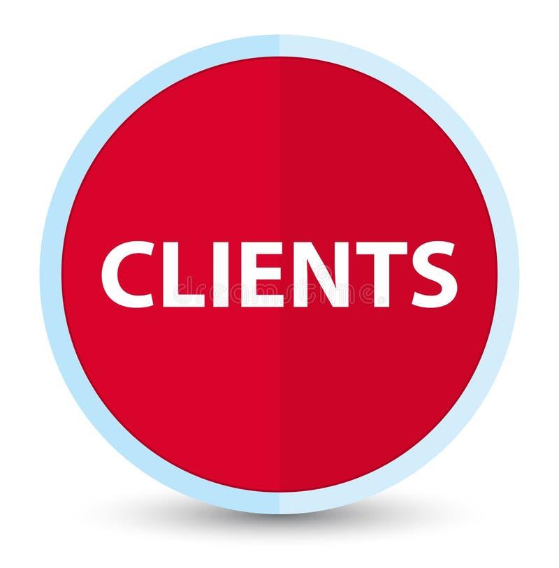 Bottone rotondo rosso principale piano dei clienti illustrazione di stock