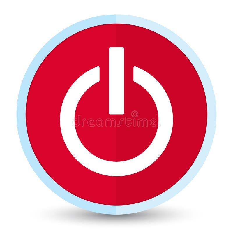 Bottone rotondo rosso principale piano dell'icona di potere royalty illustrazione gratis