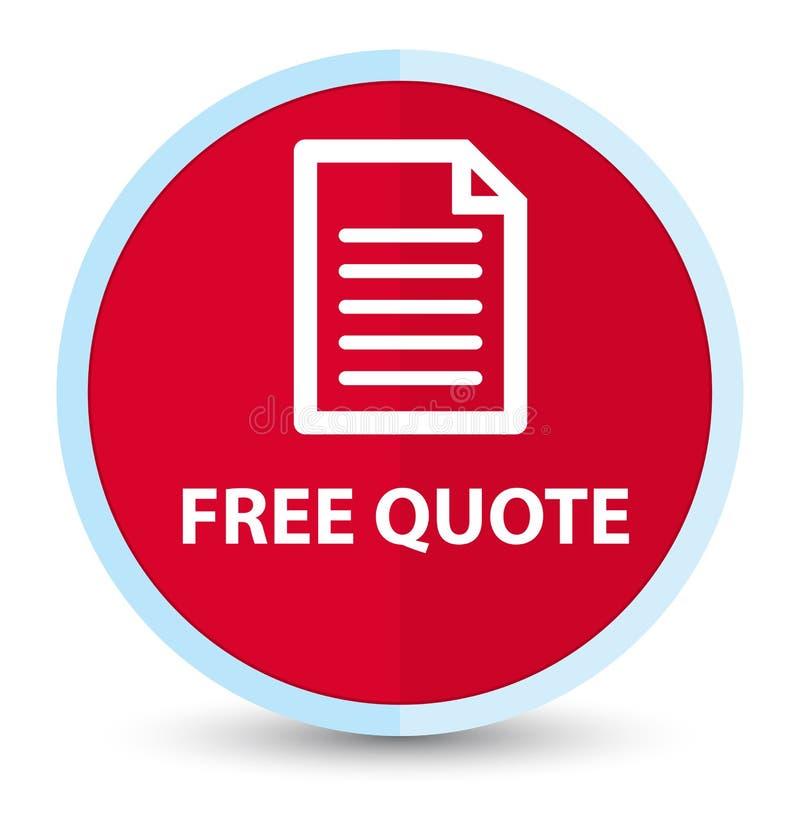 Bottone rotondo rosso principale piano libero di citazione (icona della pagina) royalty illustrazione gratis