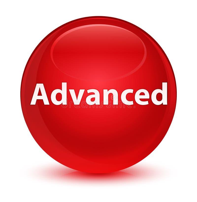 Bottone rotondo rosso vetroso avanzato royalty illustrazione gratis
