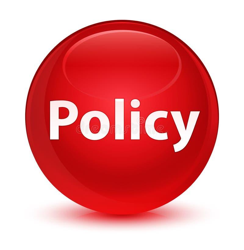 Bottone rotondo rosso vetroso di politica illustrazione di stock