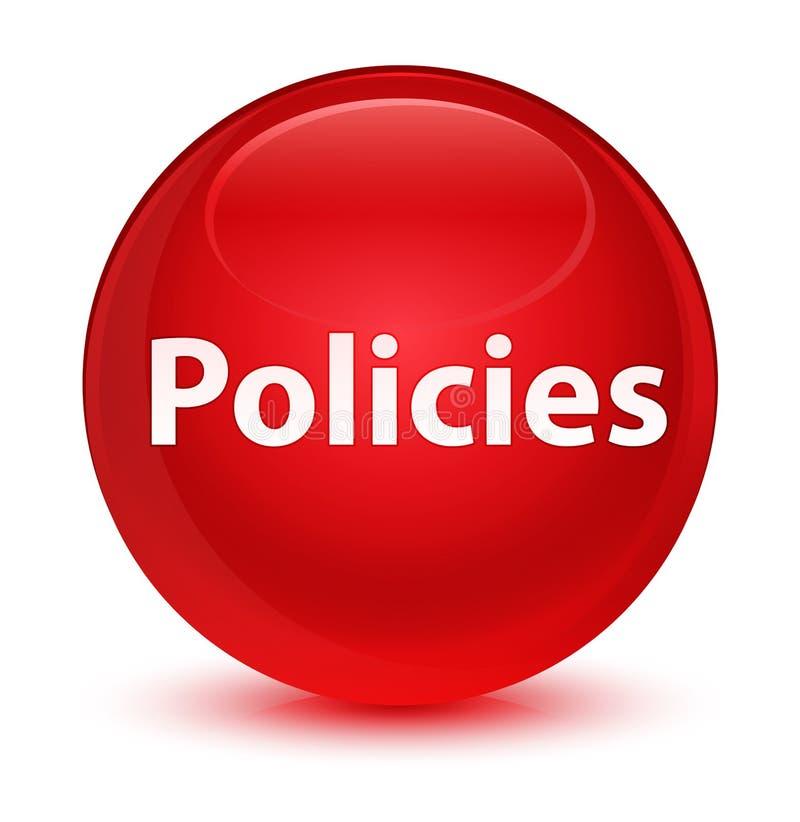 Bottone rotondo rosso vetroso di politiche illustrazione vettoriale