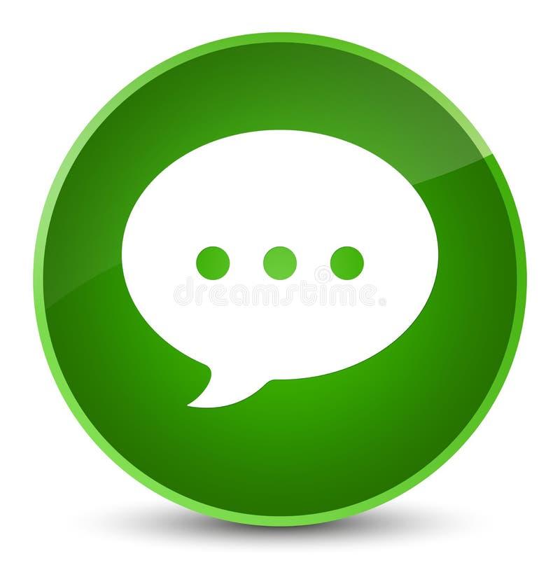 Bottone rotondo verde elegante dell'icona di conversazione illustrazione vettoriale