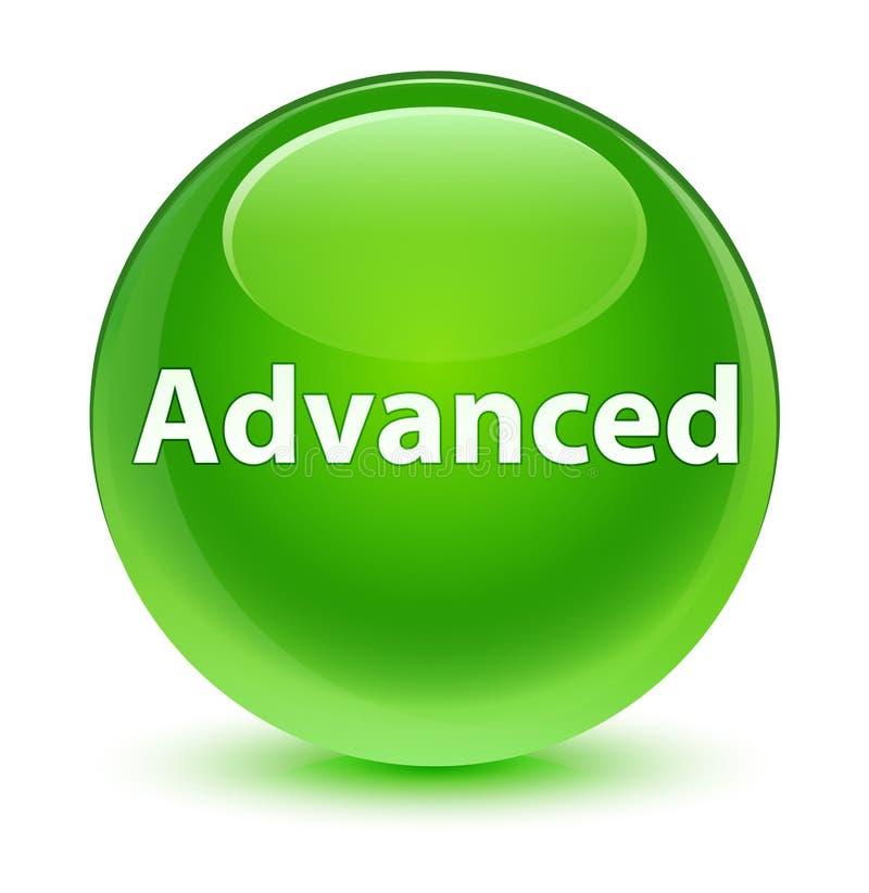 Bottone rotondo verde vetroso avanzato illustrazione di stock