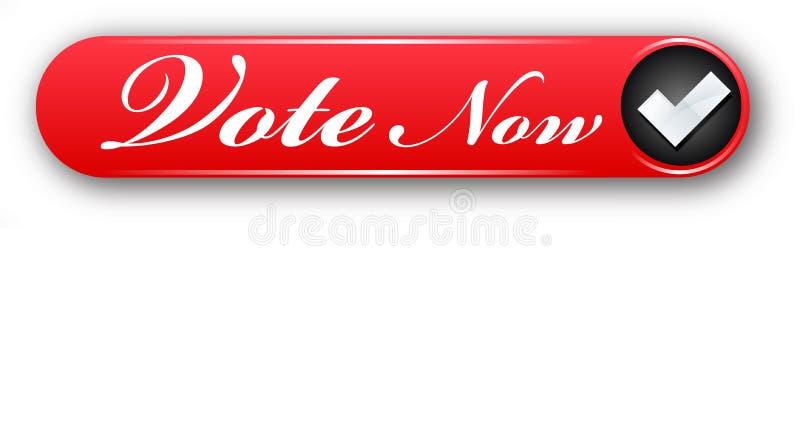 Bottone variopinto di web di progettazione di voto del segno di spunta creativo ora royalty illustrazione gratis