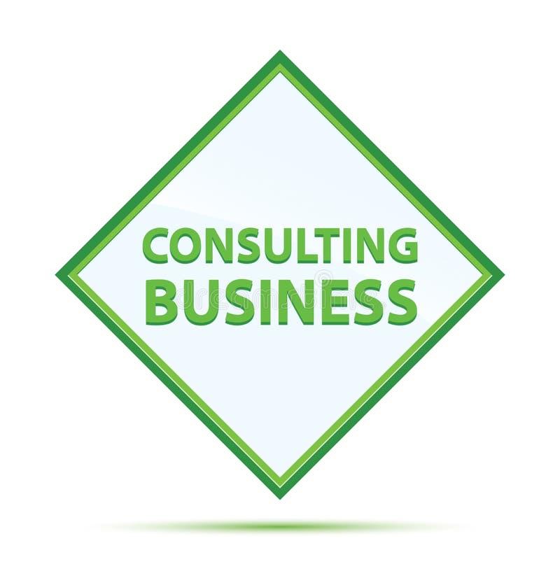 Bottone verde astratto moderno consultantesi del diamante di affari royalty illustrazione gratis