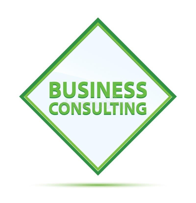 Bottone verde astratto moderno del diamante della consulenza aziendale illustrazione di stock