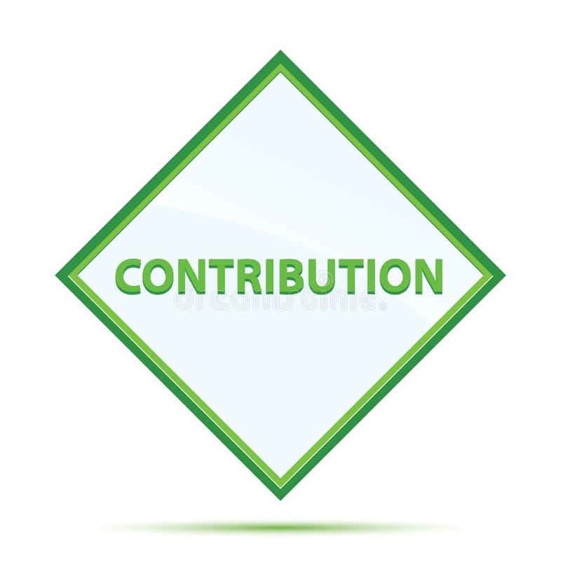 Bottone verde astratto moderno del diamante di contributo illustrazione di stock