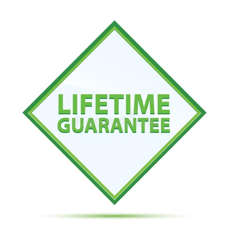 Bottone verde astratto moderno del diamante di garanzia di vita royalty illustrazione gratis