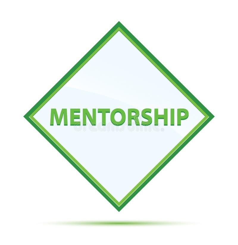 Bottone verde astratto moderno del diamante di mentoring illustrazione di stock