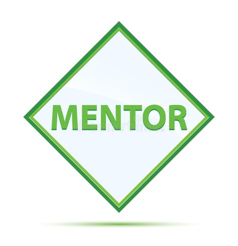 Bottone verde astratto moderno del diamante del mentore royalty illustrazione gratis